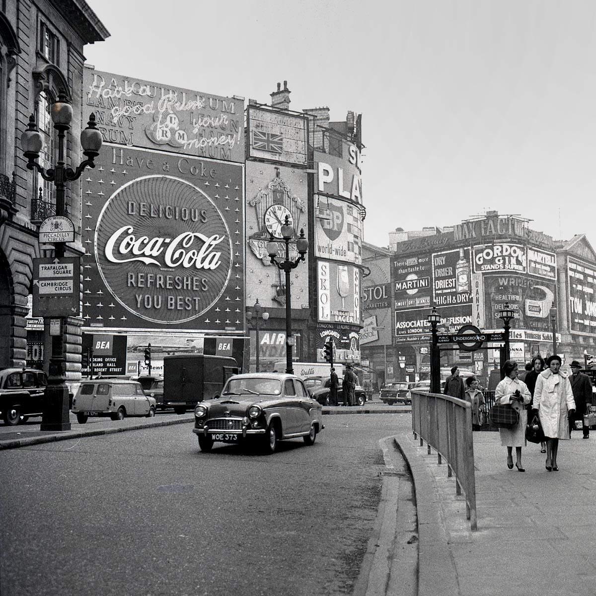 Piccadilly Circus, London, circa 1960