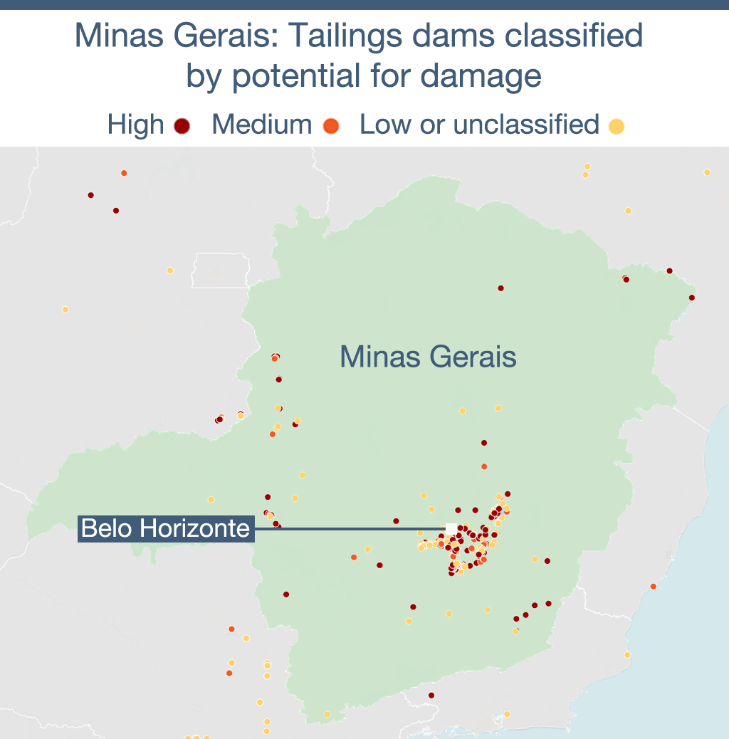 Source: Agência Nacional de Mineração (National Mining Agency),  Agência Nacional de Águas (National Water Agency). Map created using Carto.