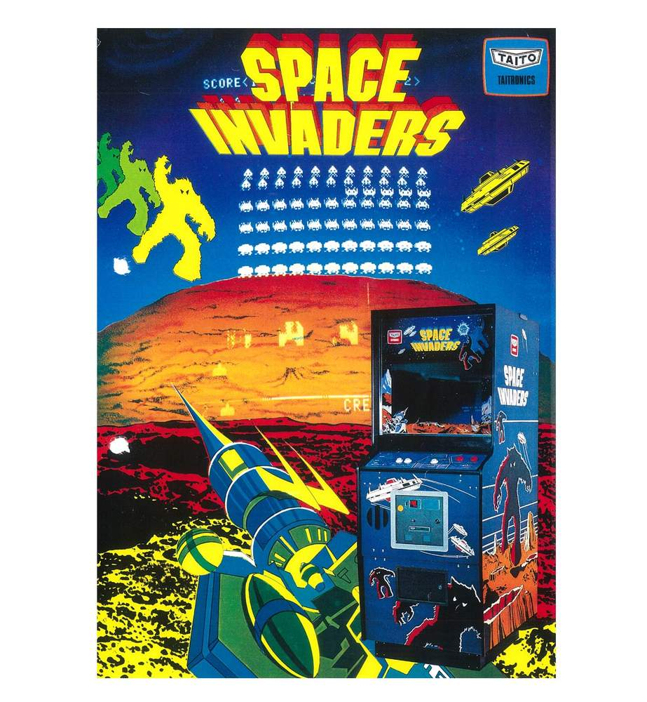 Space Invaders poster(Taito Corporation)