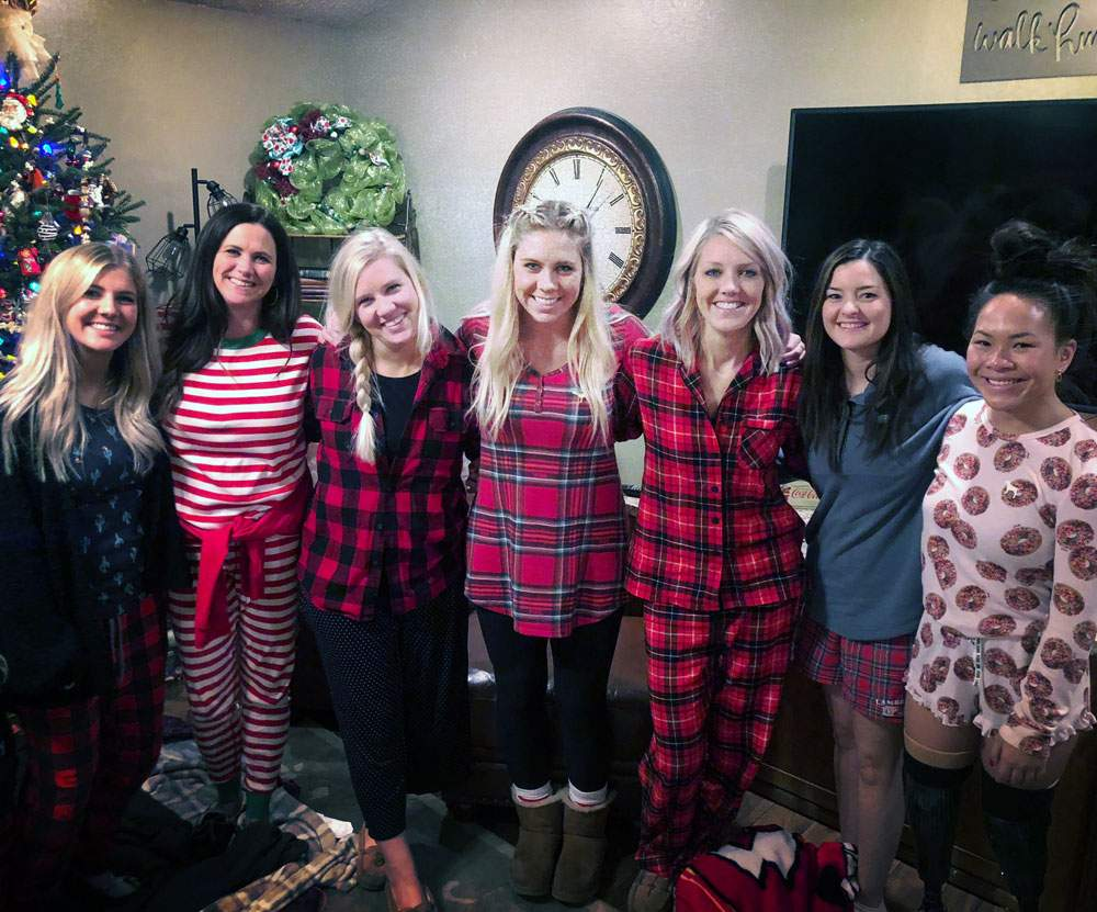 The Shepherd sisters during Christmas 2018