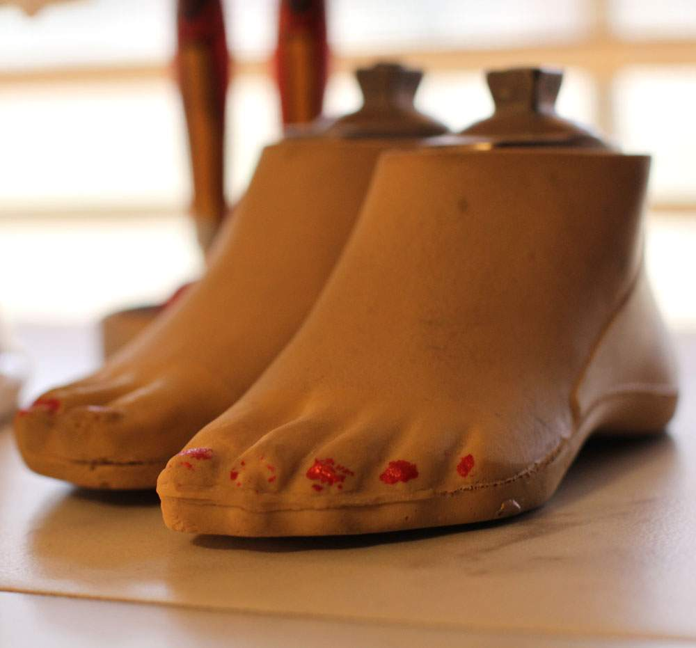 The first prosthetic feet made for Haven