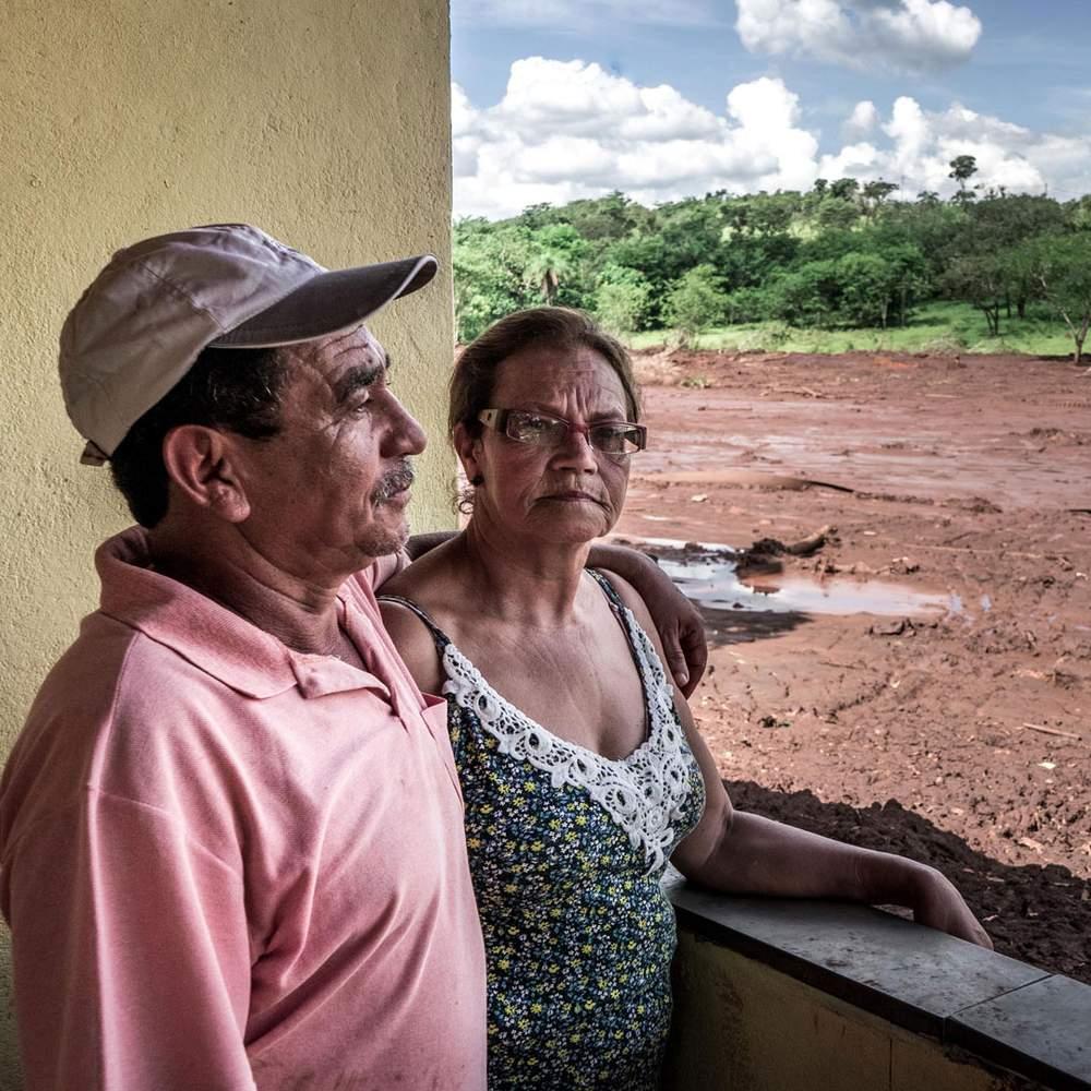 Телмилия Дураес да Роша с мужем