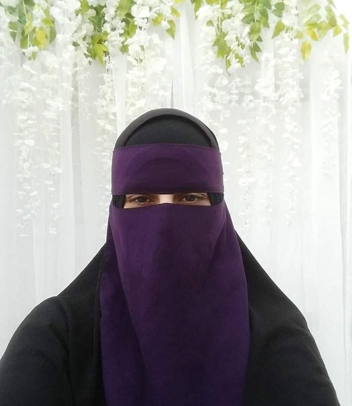 Sarah Ali wearing her niqab