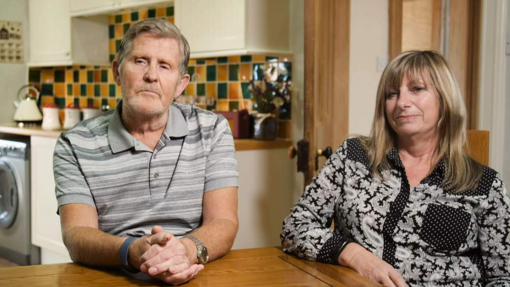 Daryll's foster parents Harry and Jacqui