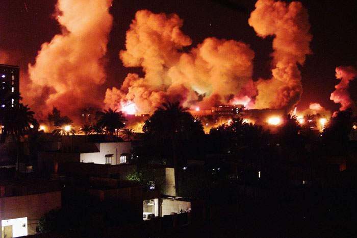 2003: Air attacks on Baghdad