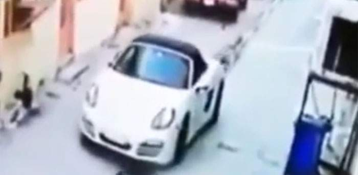 CCTV footage of Tara Fares's car, moments after the shooting