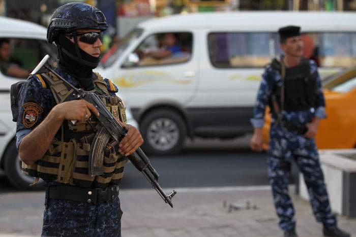 2018: Iraqi federal police on patrol in Baghdad