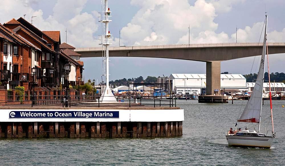 1980s waterfront housing by the Itchen Bridge, Southampton