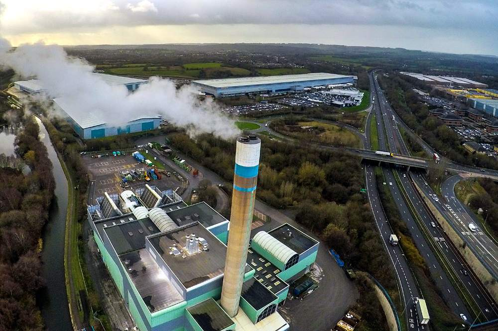 Waste incinerator and the A500, Stoke-on-Trent