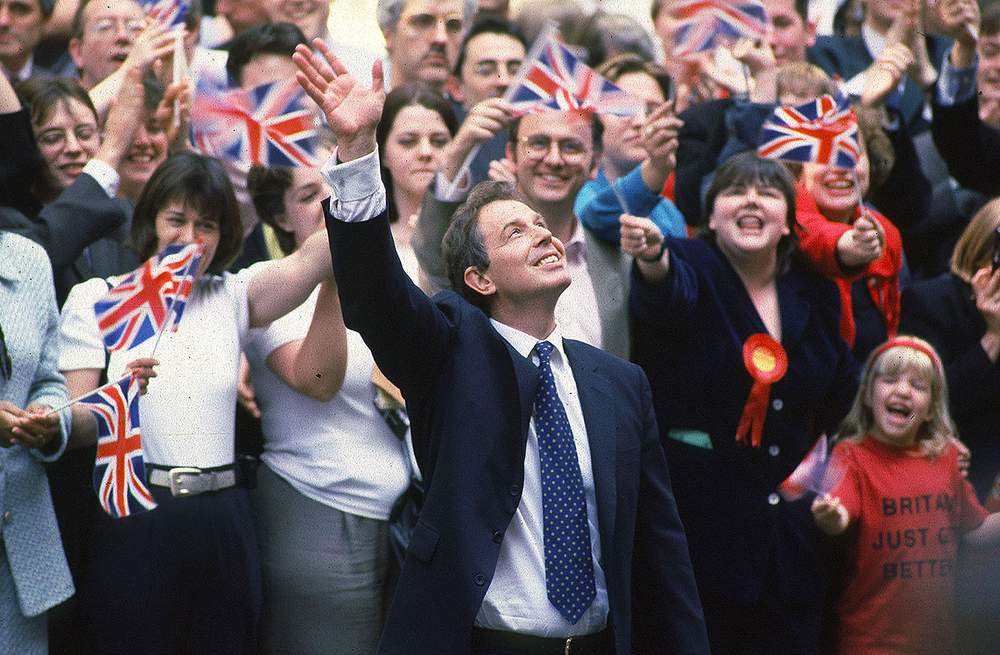 Tony Blair's Labour election victory in 1997