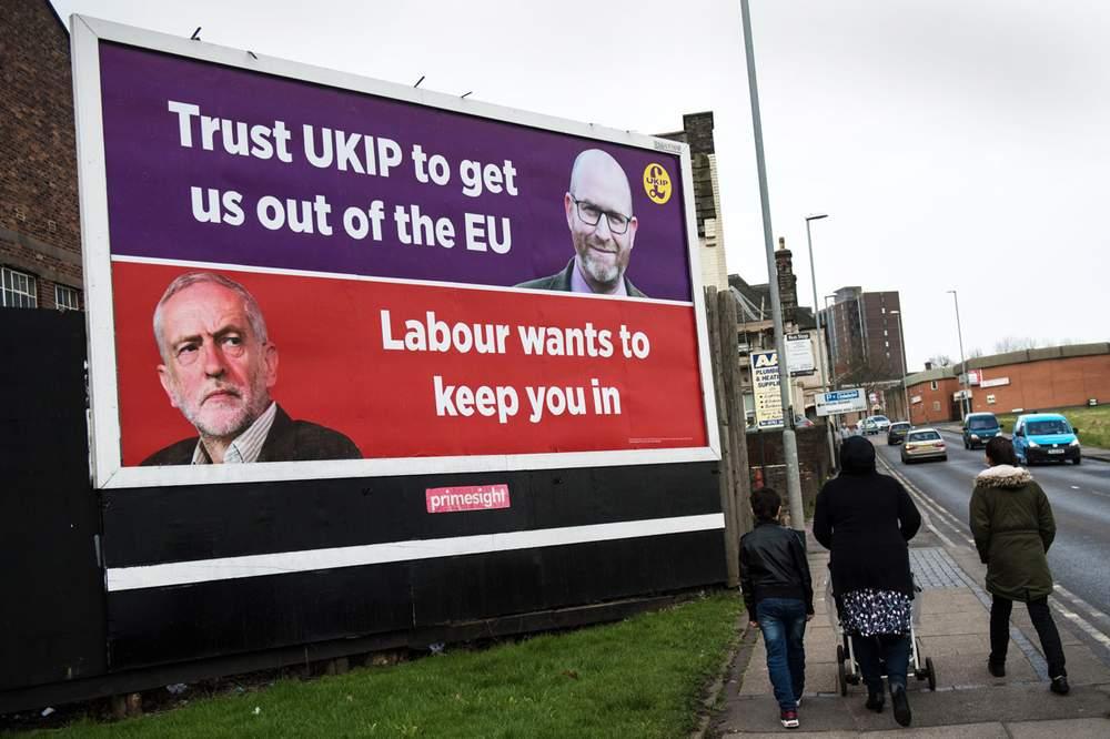 UKIP poster in Stoke-on-Trent, 2017