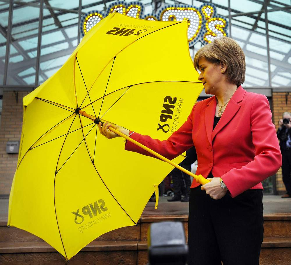 SNP leader Nicola Sturgeon on the campaign trail in Motherwell, 2015