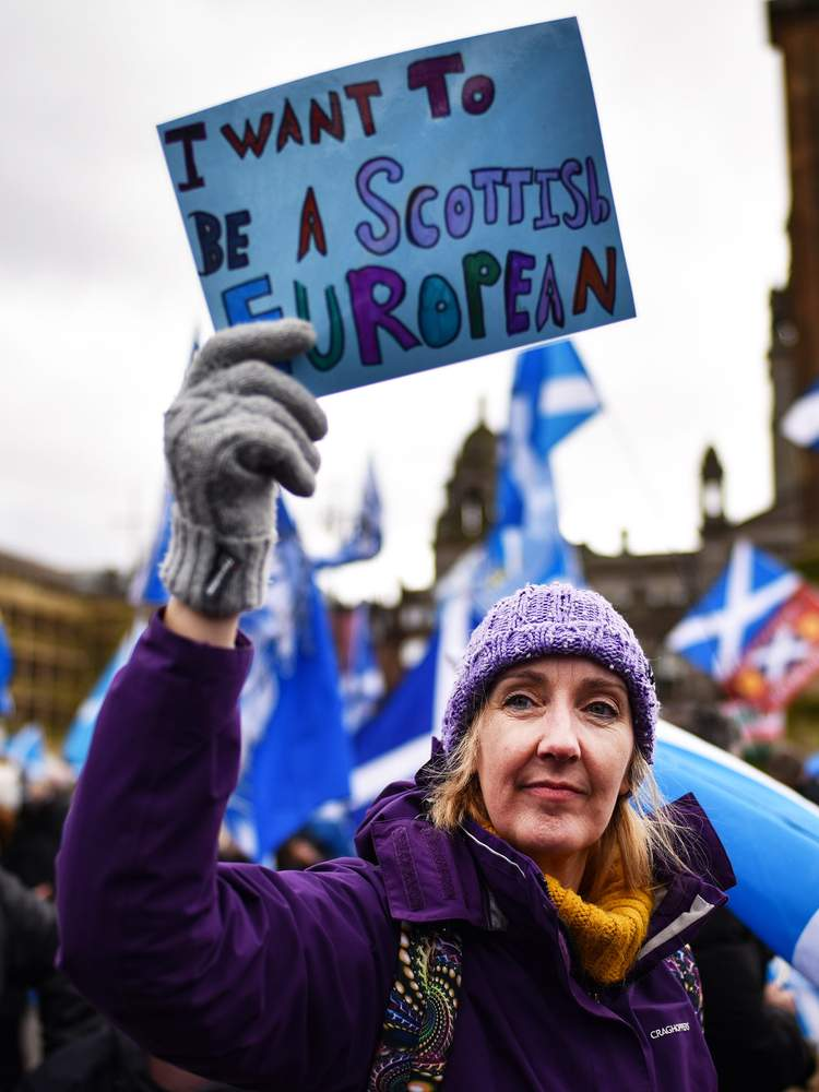 Scottish independence supporter, Glasgow, March 2019