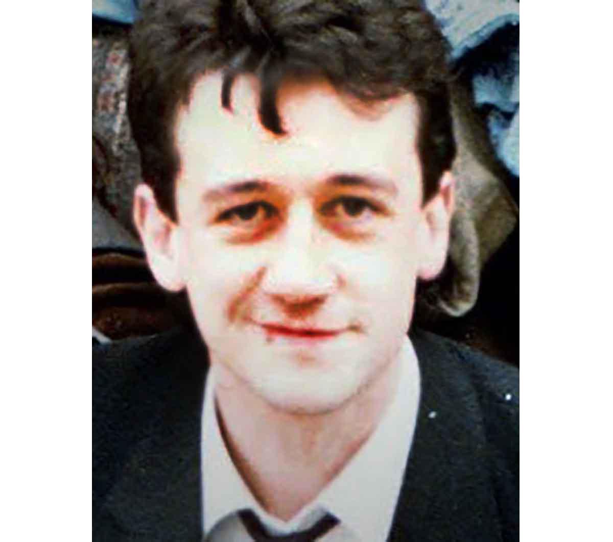 Allan Little as a young man