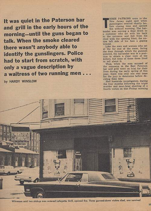 Magazine article on the murders at the Lafayette
