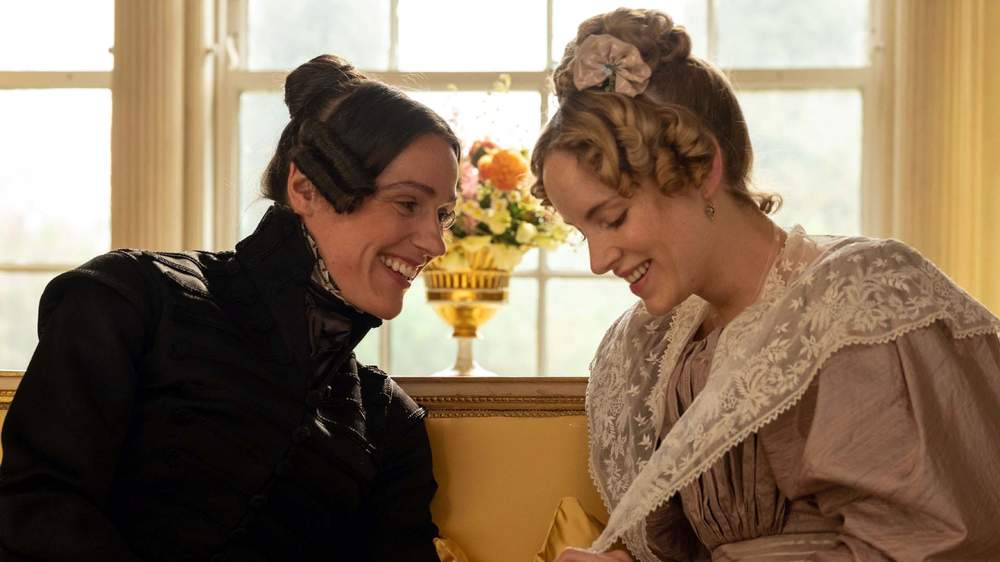 "Suranne Jones, left, said playing Anne Lister was an ""uplifting"" experience"