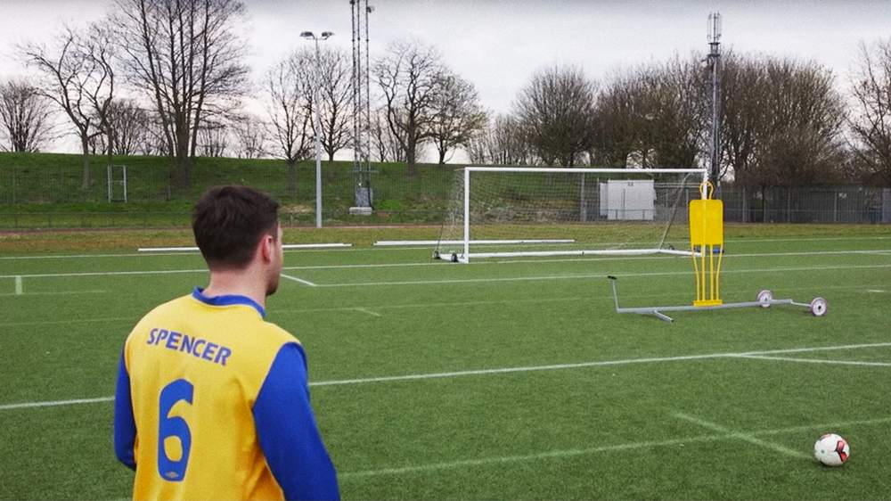 Owen Spencer in Hashtag FC's 2016 free kick challenge