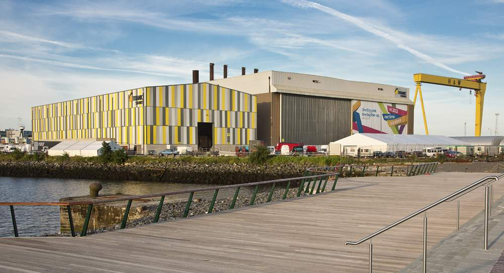 The Paint Hall (right) forms part of Titanic Studios