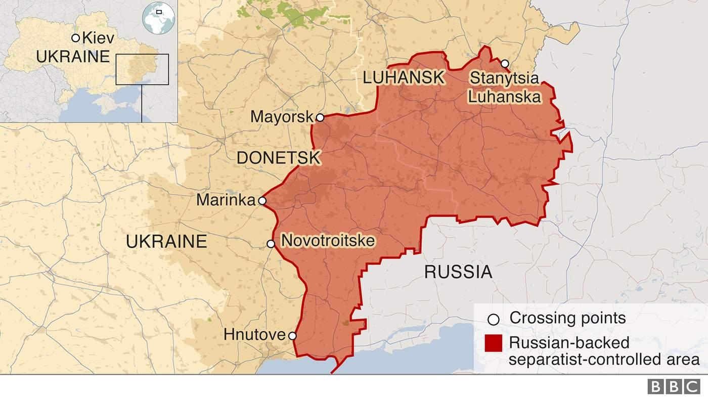 The killer queues of Ukraine - BBC News