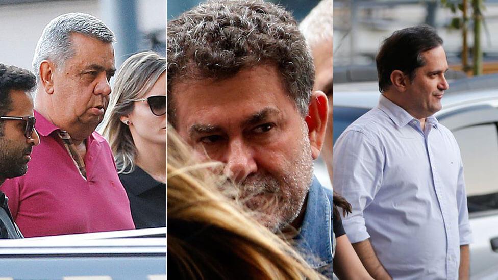 Deputados Jorge Picciani, Paulo Melo e Edson Albertassi