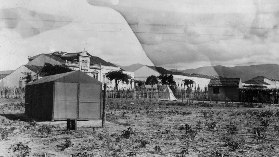 Os cientistas montaram seu acampamento de observação na pista do jóquei clube de Sobral. Foto: Carnegie Institution for Science, Department of Terrestrial Magnetism