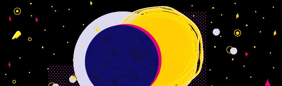 la Luna pasando por delante del Sol
