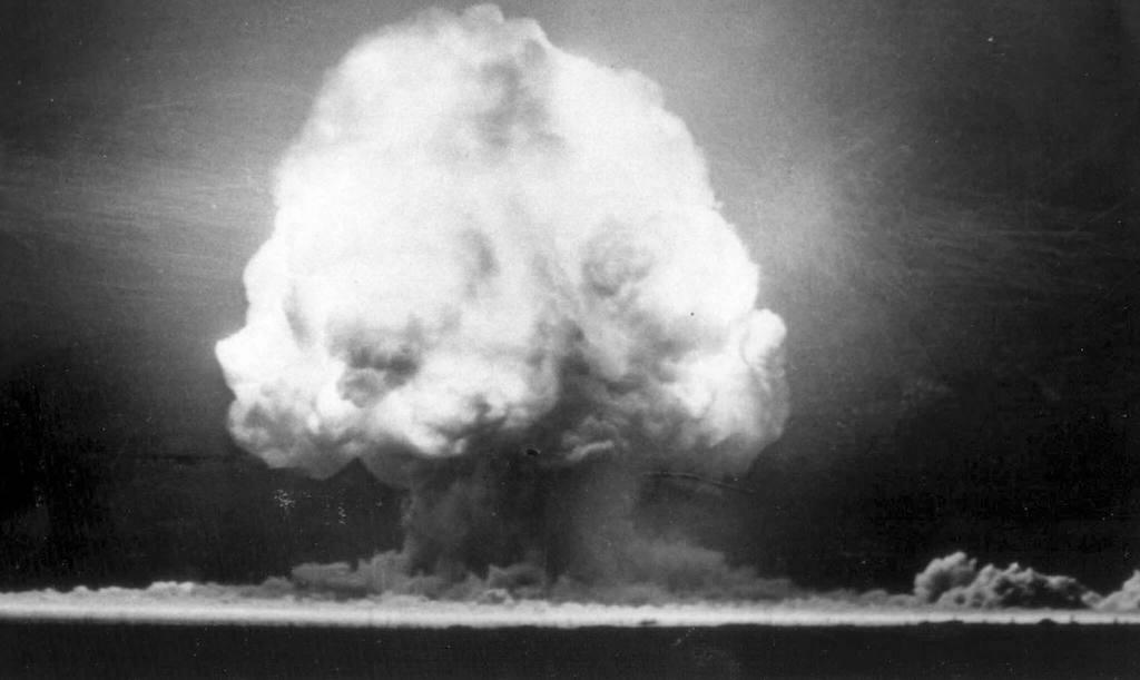 Momento de la detonación de la bomba Trinity
