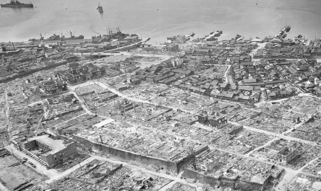 Edificios arrasados tras la bomba de Nagasaki