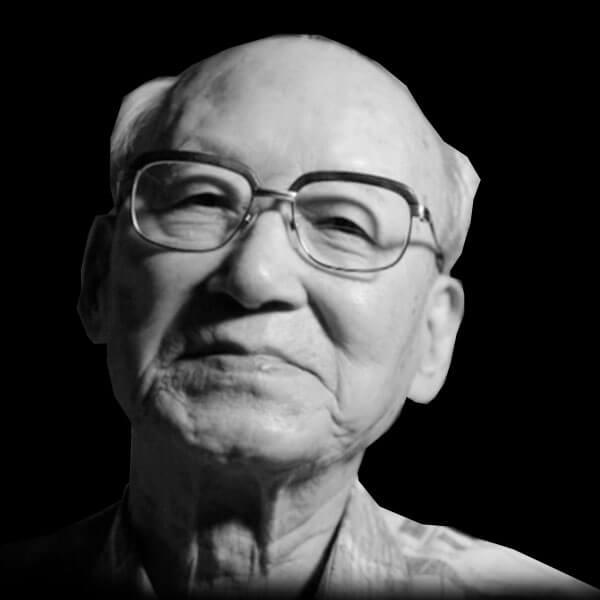 Retrato de Shuntaro Hida, sobreviviente de Hiroshima
