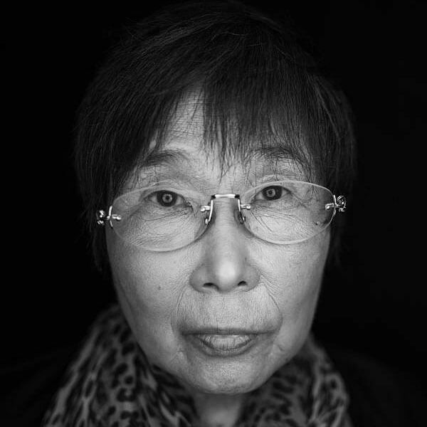 Retrato de  Keiko Ogura, un sobreviviente de Hiroshima