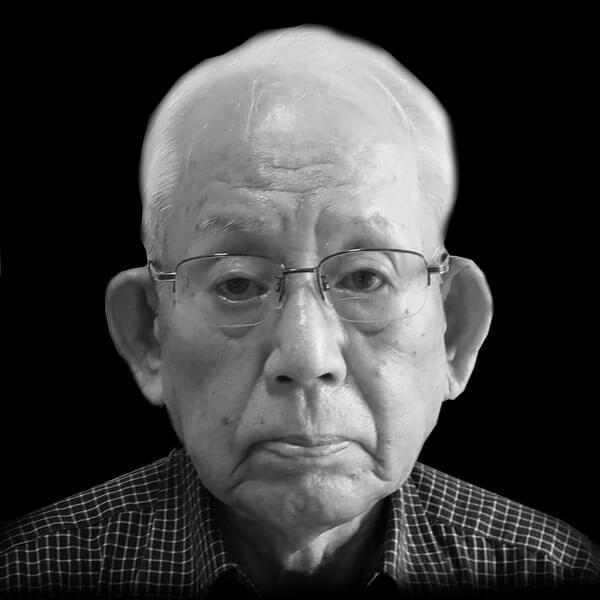 Retrato de Yasuaki Yamashita, sobreviviente de Nagasaki
