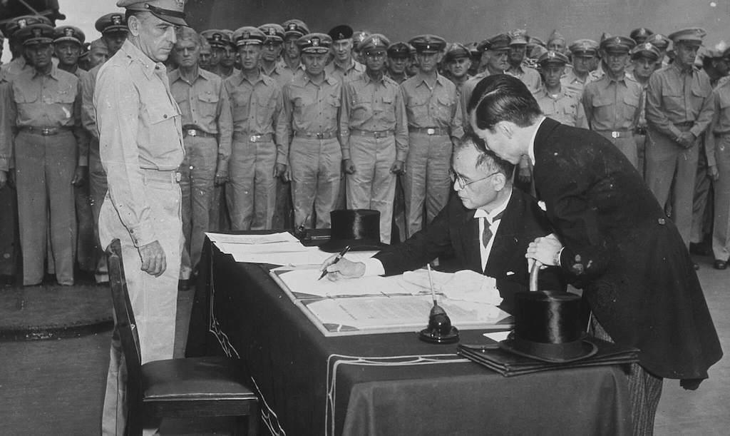 Firma de la rendición de Japón