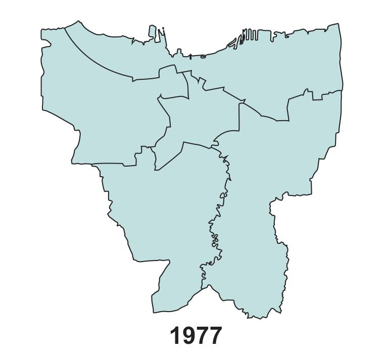 Jakarta's land subsidence on 1977.