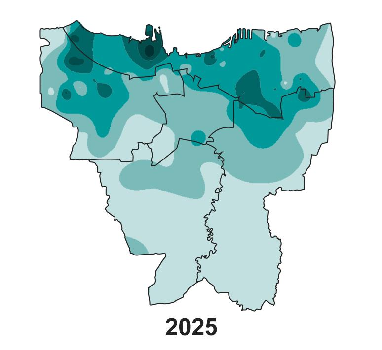 Jakarta's land subsidence on 2025.