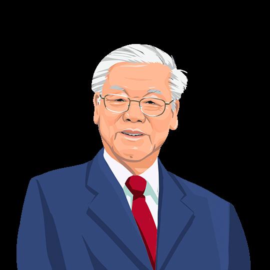 Hình portrait minh họa Nguyễn Phú Trọng