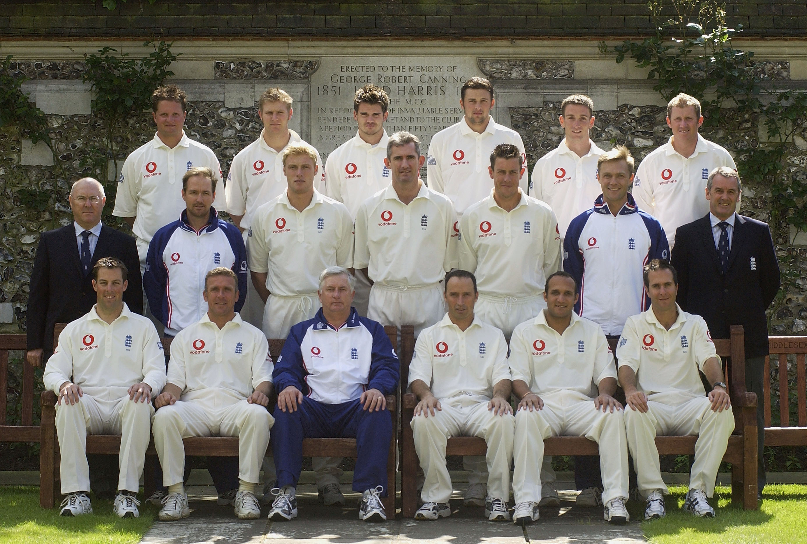 Image of James Anderson's first England squad photo