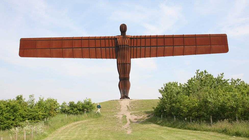 Photograph of the Angel of the North taken in summer 2007
