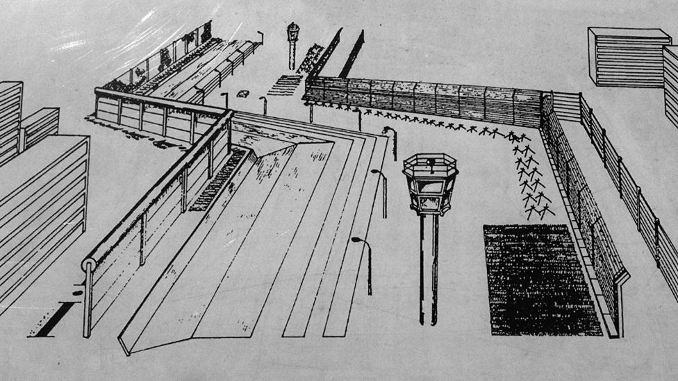 Схема Берлинской стены