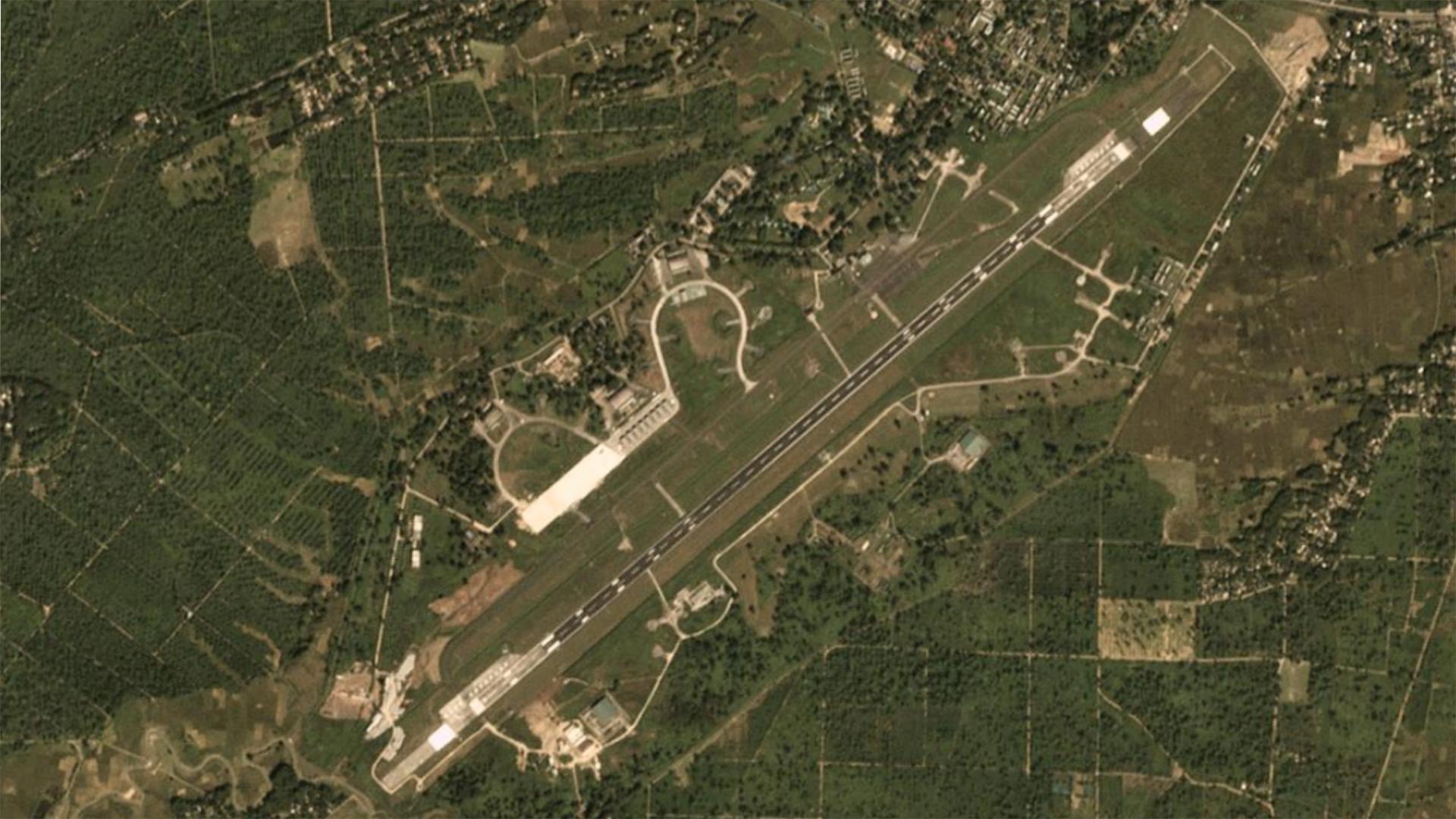 Satellite image of Chabua Air Force Station on October 27, 2018