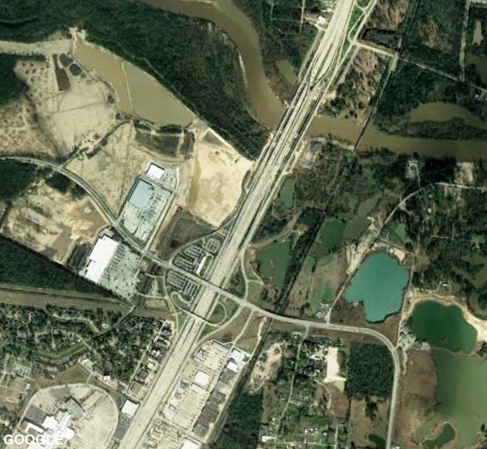 Satellite images of Houston Interstate 69