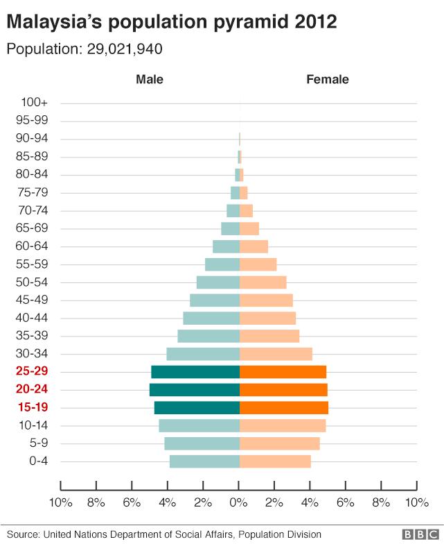 Malaysia's population pyramid 2012