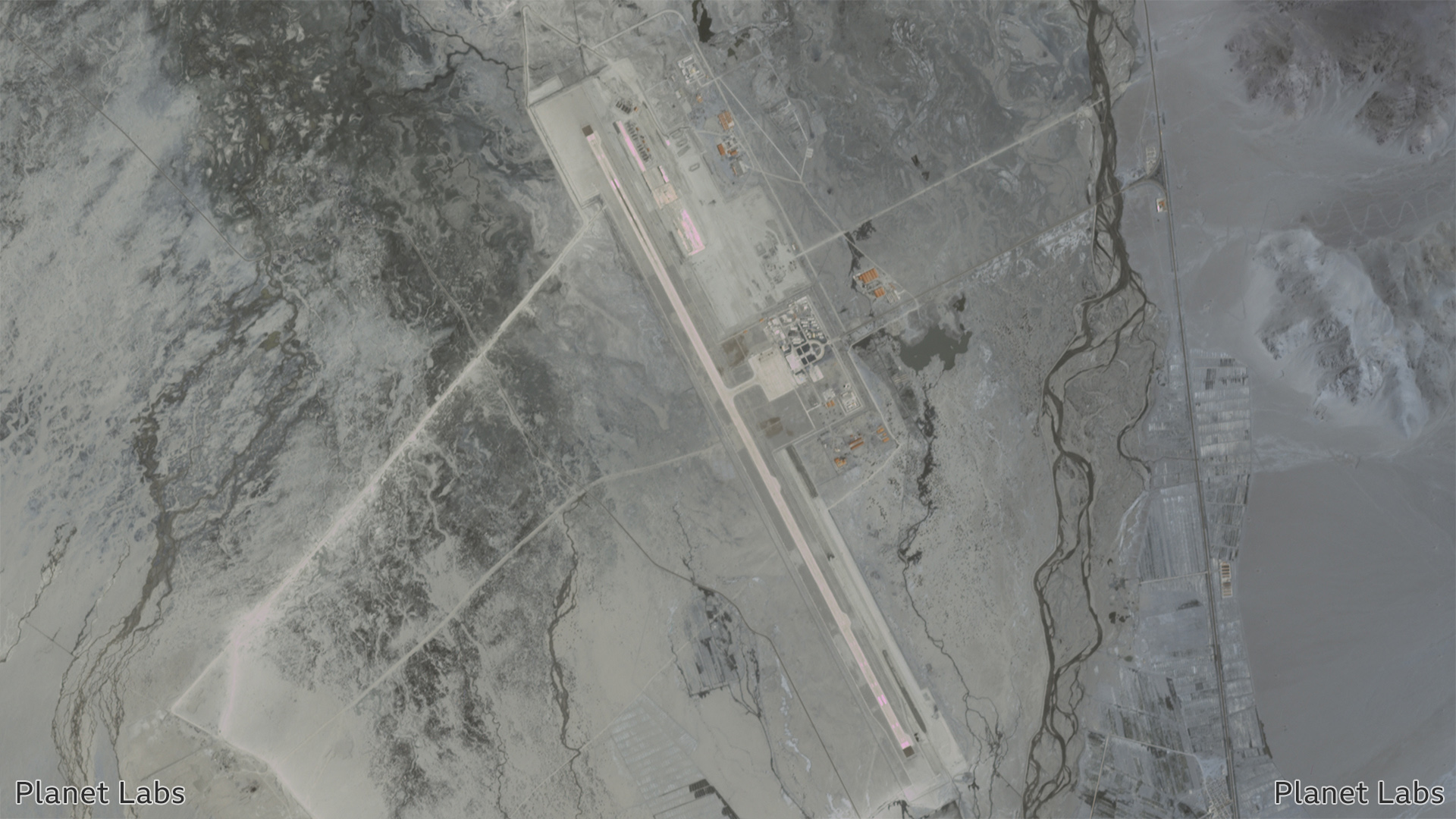 Satellite image of the Ngari Kunsha Airport in China. 2 July 2020.