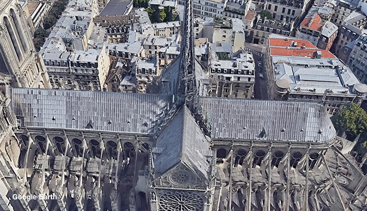La catedral de Notre Dame antes del incendio