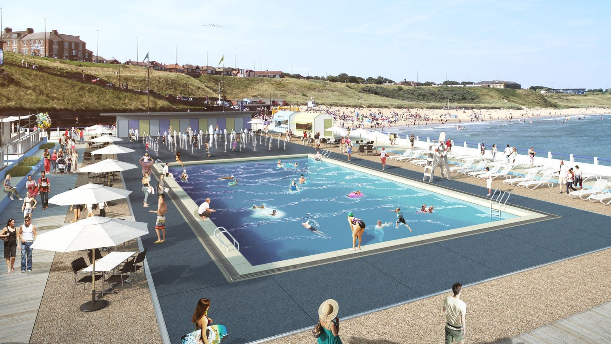 Artist's impression of Tynemouth Outdoor Pool