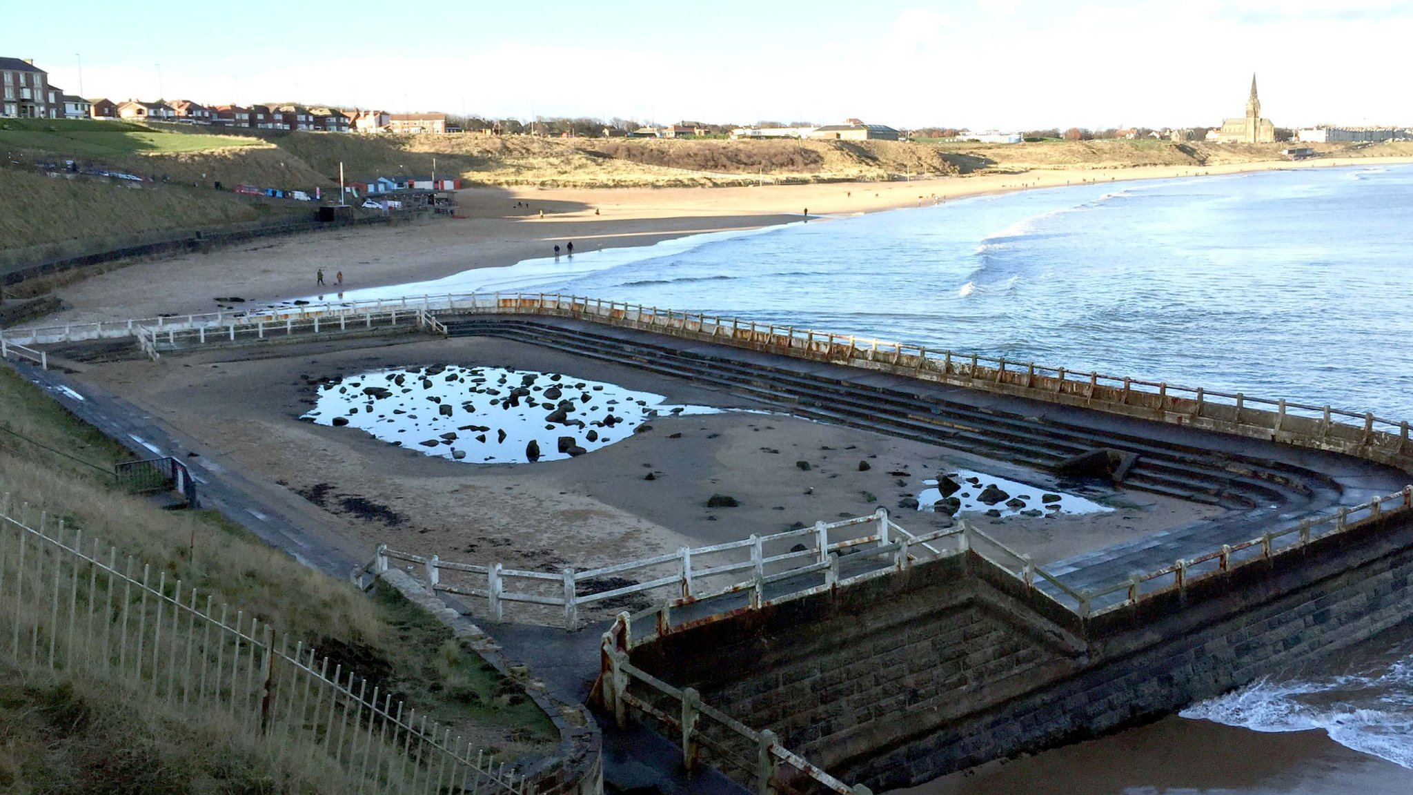 Tynemouth Outdoor Pool is now derelict