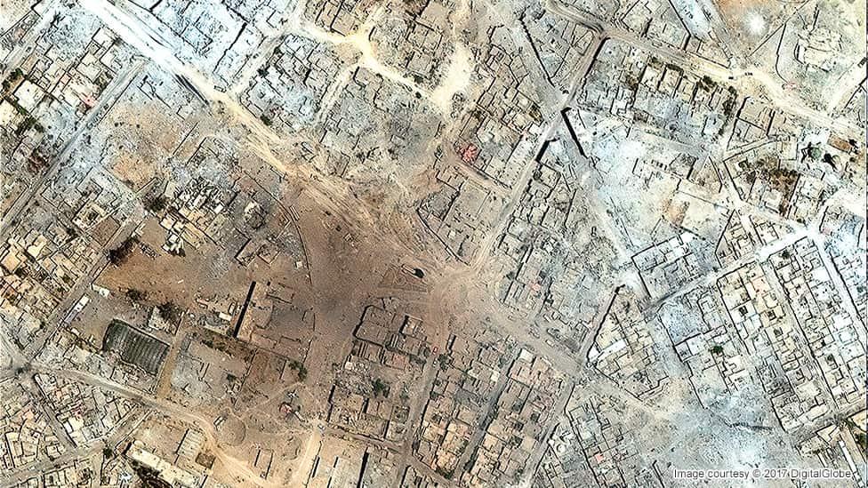 بخش قدیمی شهر موصل ژوئیه ۲۰۱۷