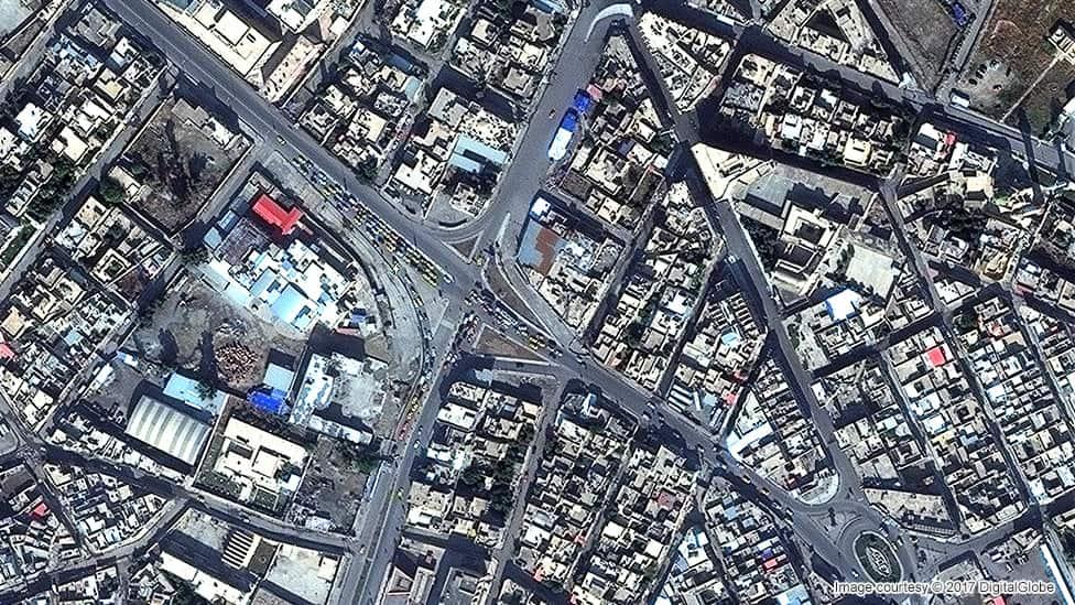 بخش قدیمی شهر موصل نوامبر ۲۰۱۵