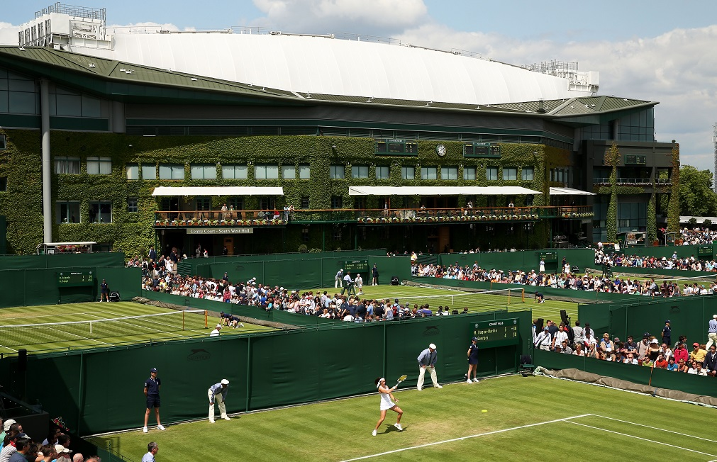 How Centre Court looked from the outside in 2018