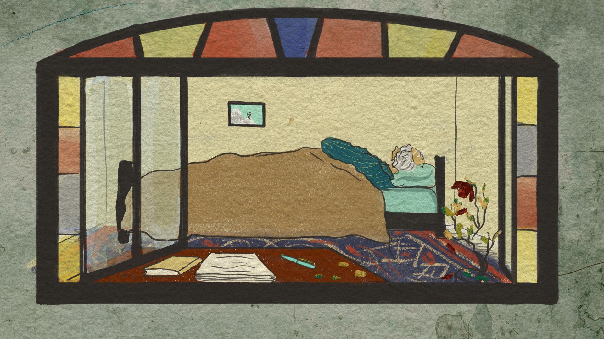 Ilustração de Omid, de Ardabil, Irã