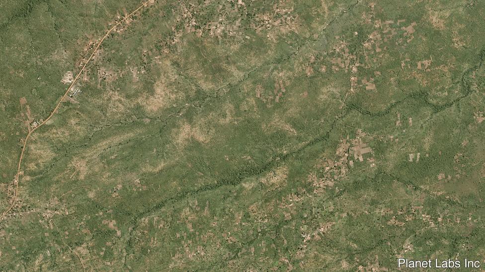Satellite image of Bidi Bidi in 2016